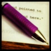 purple pen