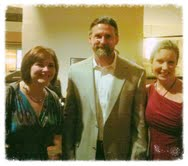 The slightly more dignified picture with Megan and John. Boy. Did we have a few laughs. Good company at ACFW.