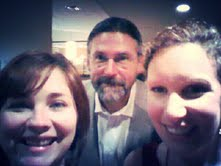 Selfie with Megan Sayer and the talented John D. Blase (poet, author, editor, gentleman).