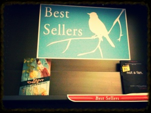 The Best Seller sign even matches the cover of Paint Chips!