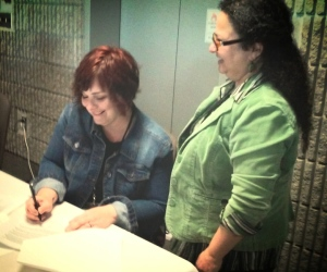 I signed a contract with Kregel Publications for my Dust Bowl Era novel A CUP OF DUST. Standing next to me is editor Dawn Anderson.