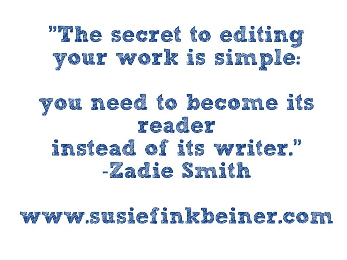 Zadie Smith on editing