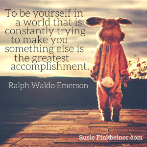 To be yourself in