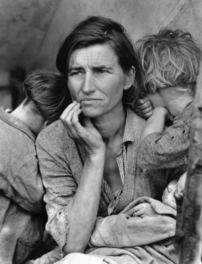 Iconic photo by Dorothea Lange commissioned by the Farm Security Administration (FSA) during The Great Depression