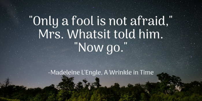 Only a fool is not afraid,Mrs. Whatsit told him.Now go.-2